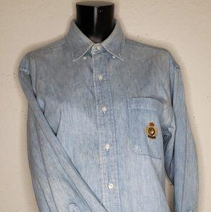 Vintage Polo Ralph Lauren Denim Shirt Yacht Crest